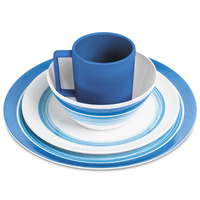 Campfire Melamine Dinner Set 16PC Ocean Blue