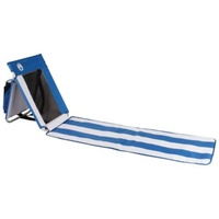 Coleman Beach Mat - white & blue