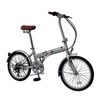 RV Coaster Folding Bike - Silver