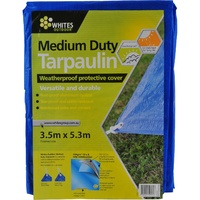 Whites Medium Duty Tarpaulin 3.5m x 5.3m