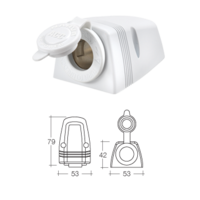 Narva 81025WBL Heavy-Duty Surface Mount Accessory Socket - White