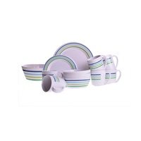 Campfire Sea Breeze 16 Piece Dinner Set 4pk