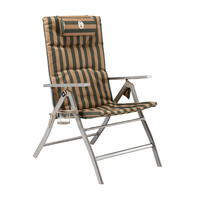 Coleman Flat Fold Chair - 5 Position Steel Arm Padded