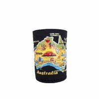 Australian Souvenirs Aussie Map Stubbie Holder