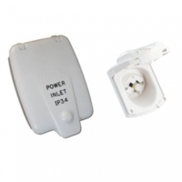 Power Inlet Mount 15Amp - White Clipsal