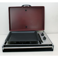 Slide-out BBQ Grill & 2 Burner