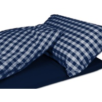 Duvalay 5cm x 77cm 'Navy Check' Memory Foam Sleeping System