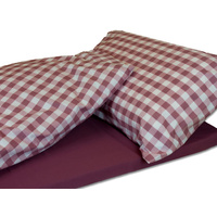 Duvalay 5cm x 77cm 'Plum Check' Memory Foam Sleeping System