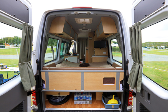 KEA Nomad 2+1 berth motorhome - Back Door.